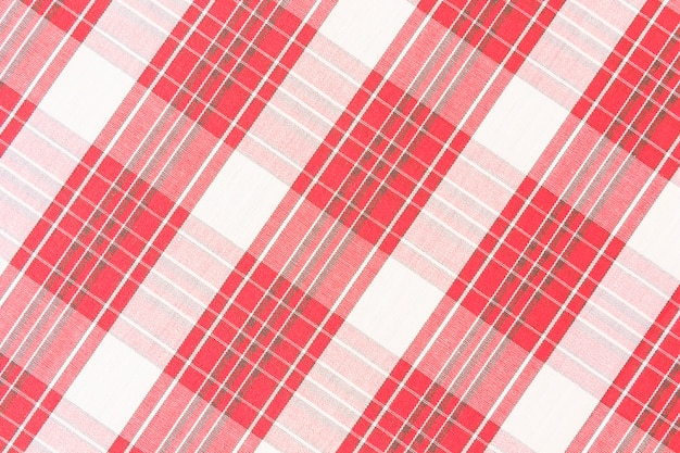 Red seamless plaid check pattern Free Photo