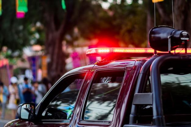 Red siren light on the police car. | Photo: Freepik