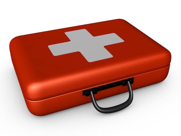 Red suitcase Premium Photo