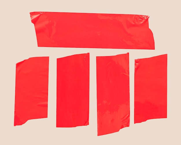 Red tape on white background Free Photo