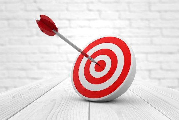Red target dart Premium Photo