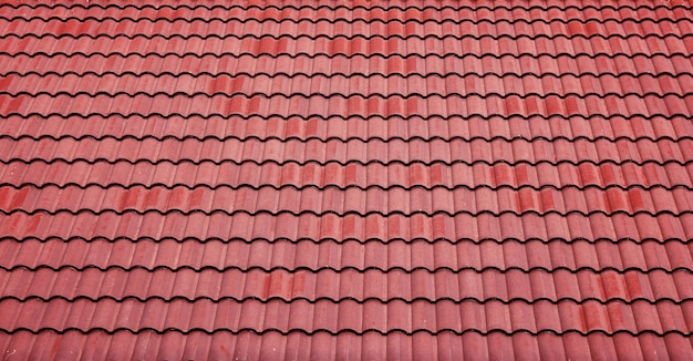 Charming Red Tiles Roof Background