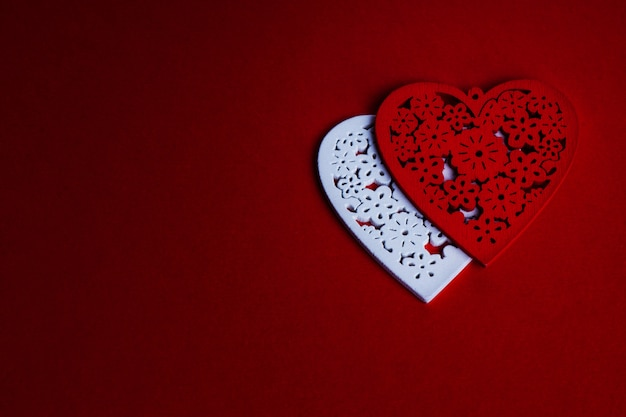 Red valentine's day  with heart Premium Photo