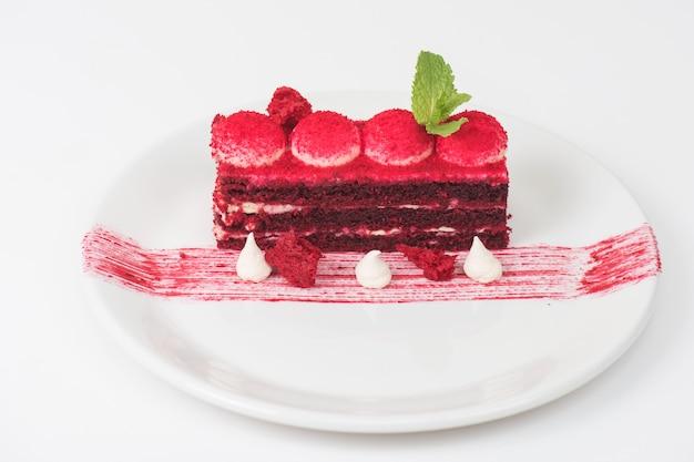 Red velvet cake Premium Photo