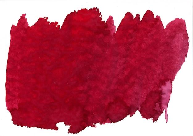 Macchia rossa dell'acquerello Foto Gratuite