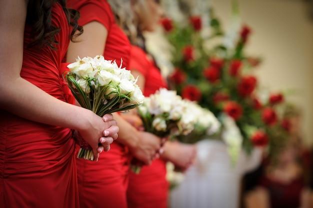 Red wedding Premium Photo
