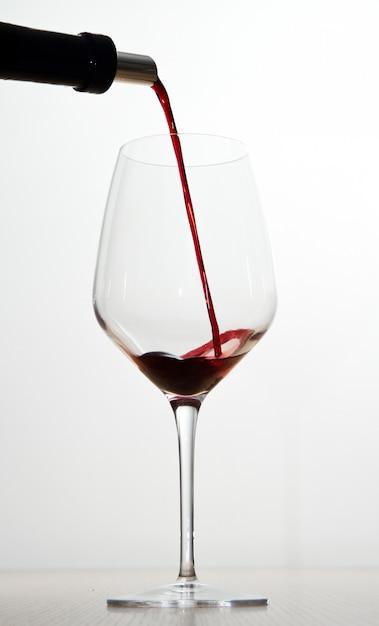 Red wine and glasses Premium Photo