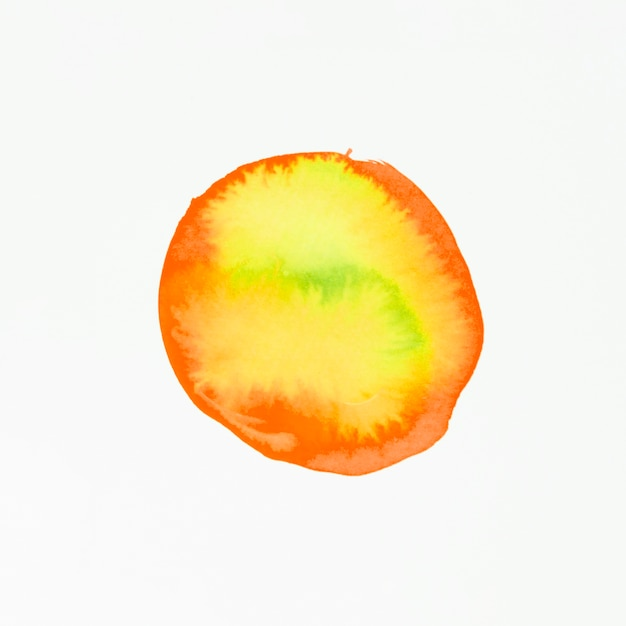 Red and yellow watercolor blot isolated on white background Free Photo