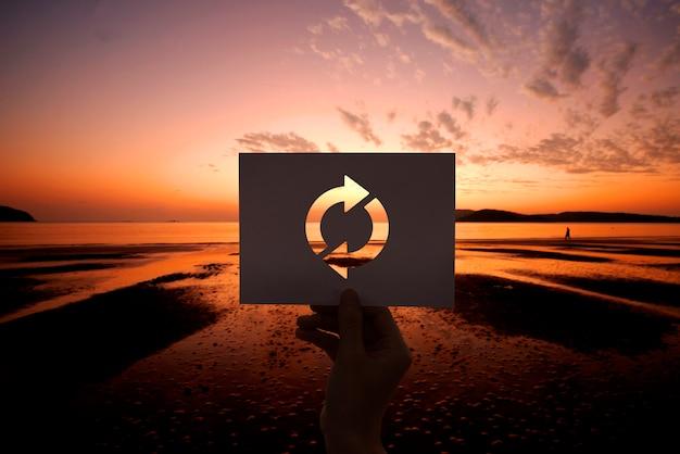 Обновить значок перезагрузить перфорированную бумагу Бесплатные Фотографии