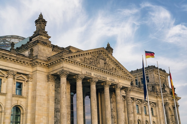 Reichstag building (german government) in berlin, germany Premium Photo