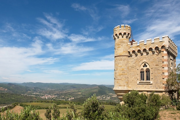 Rennes le chateau city, magdala tower Premium Photo