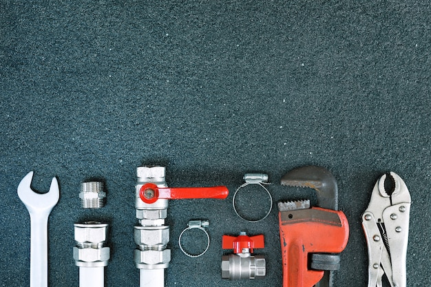 Repair plumbing background. Premium Photo