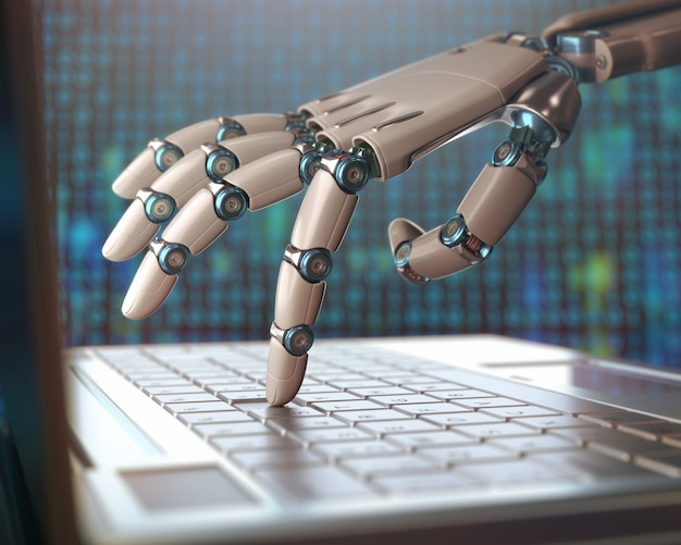 Replacement of humans by machines Premium Photo