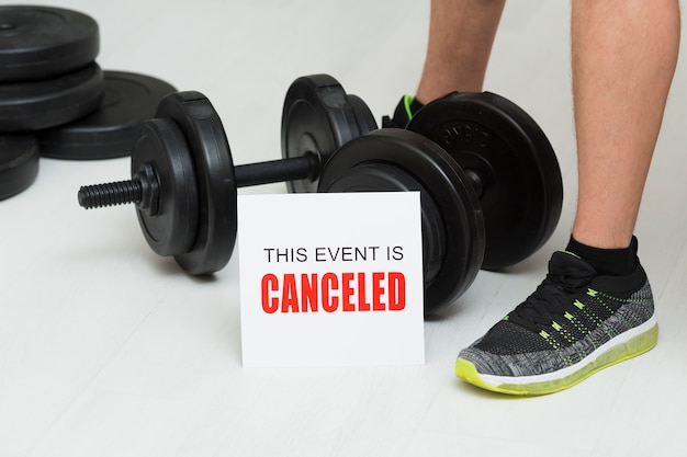 Representation of sports event canceled Free Photo