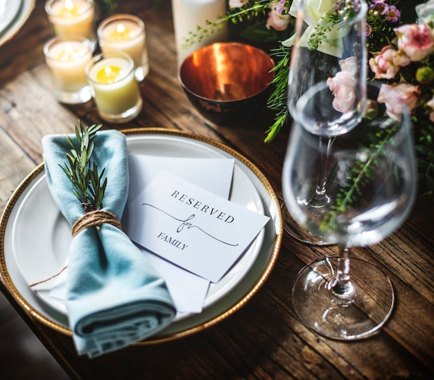 Reserved service elegance luxury party Premium Photo