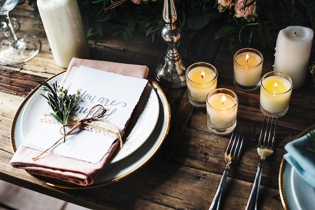 Reserved service elegance luxury party Premium Photo