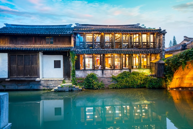 Residence in zhouzhuang ancient town, suzhou Premium Photo