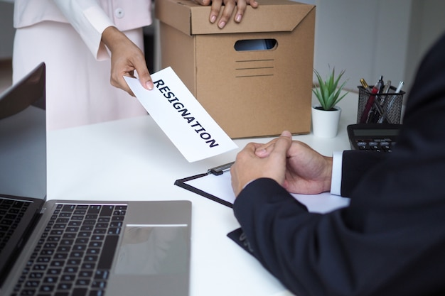 Resignation, job placement and vacancies. Premium Photo