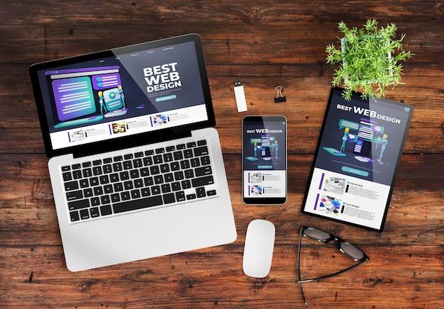 Responsive design  website Premium Photo
