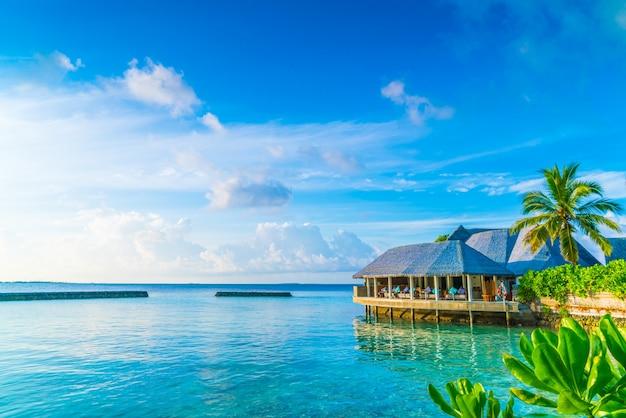 휴식 햇빛 환초 방갈로 휴일 무료 사진