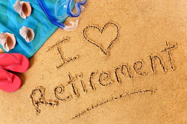 Retirement beach writing Premium Photo