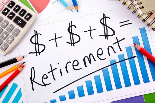Retirement planning formula  Free Photo