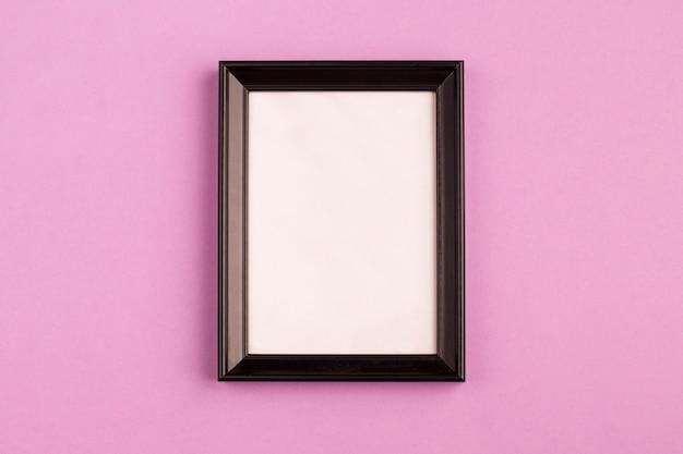 Retro photo frame with black edges Free Photo