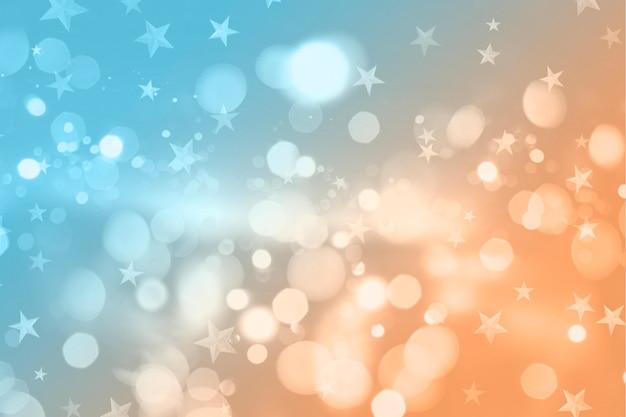 Natale in stile retrò con luci bokeh e design di stelle Foto Gratuite
