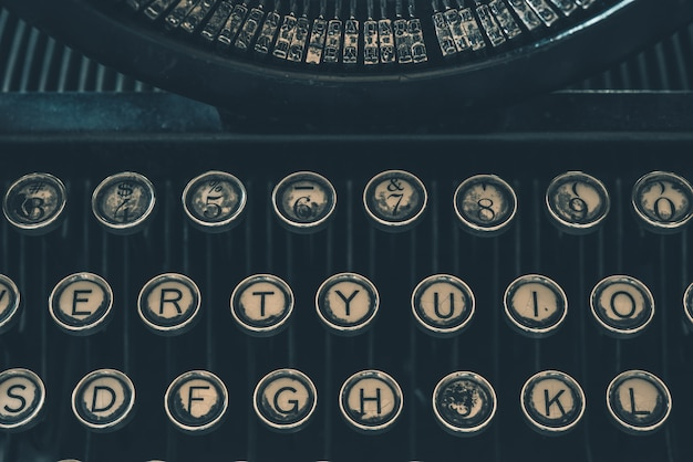 Retro typewriter closeup Free Photo