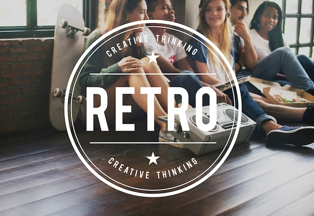 Retro vintage vector graphic concept Free Photo