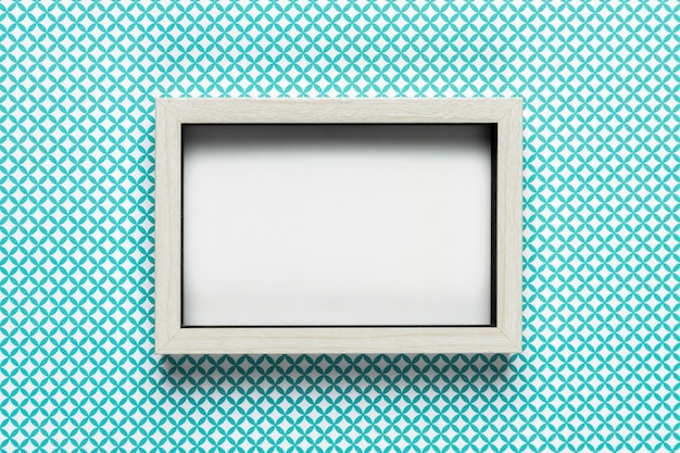 Retro white frame with pattern background Free Photo