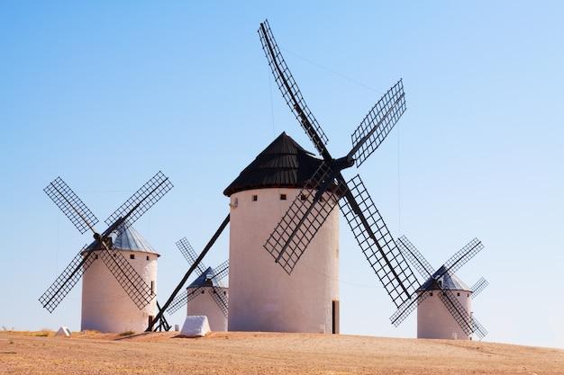 Retro windmills in  la mancha region Free Photo