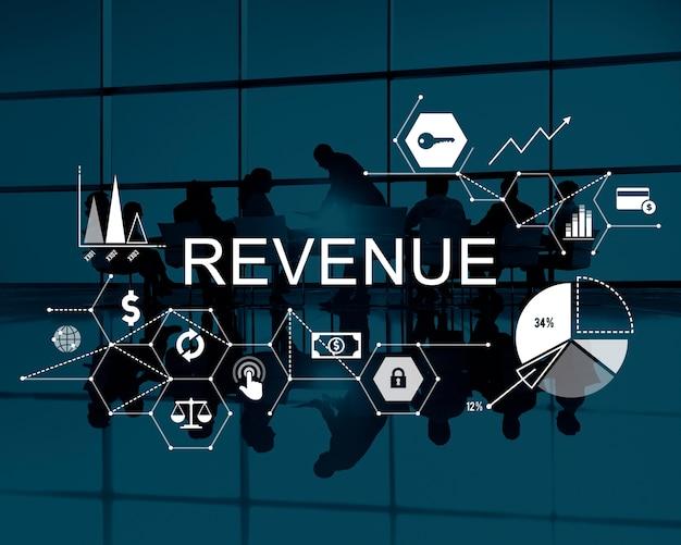 Revenue income money profit costs budget banking concept Free Photo