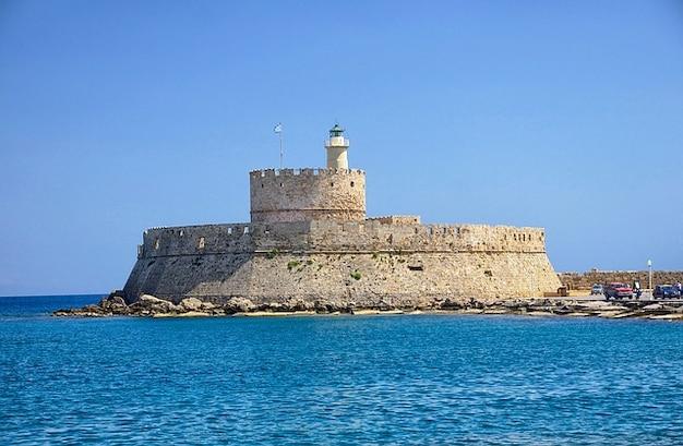 Rhodes fort fortress castle saint nicolas greece Free Photo