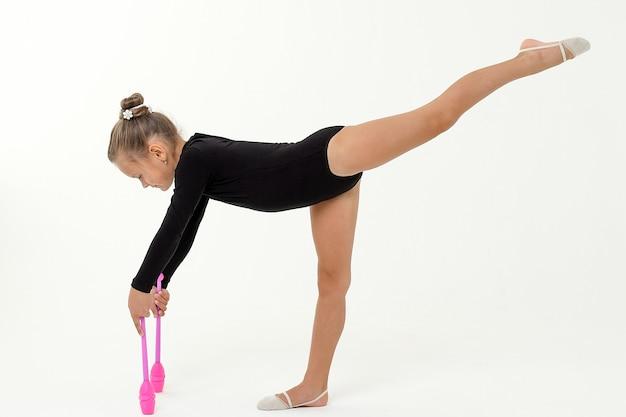 Ритмическая гимнастика Premium Фотографии