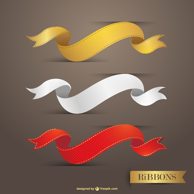 Simple Ribbon Vector Free Download Ribbons Vector Graphic Free