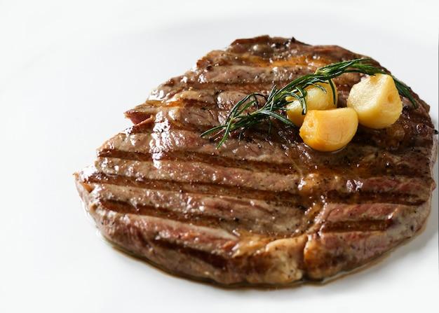 Ribeye sirloin steak, black angus beef steak , grilled meat Premium Photo