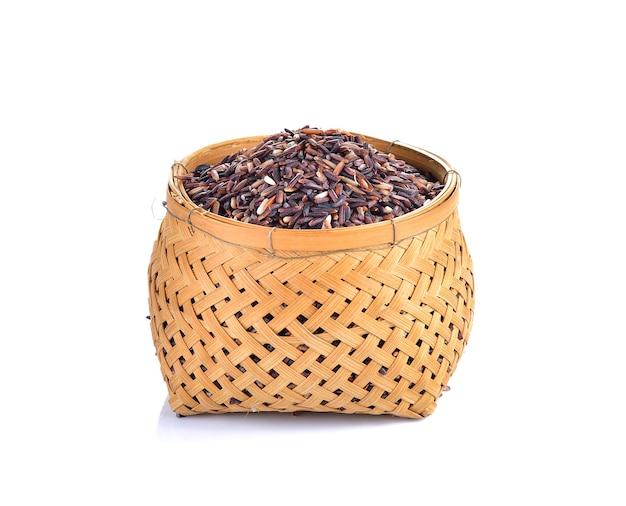 Ягода риса в миске изолированные Premium Фотографии