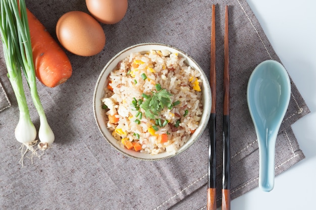 Rice china steamed dish fry macro Free Photo