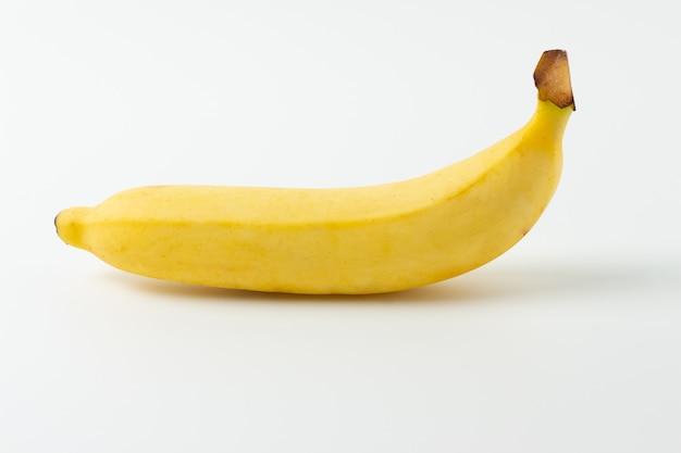 Ripe banana isolated on white background Premium Photo