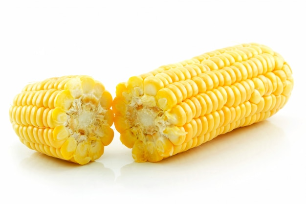 Ripe broken corn isolated on white Premium Photo
