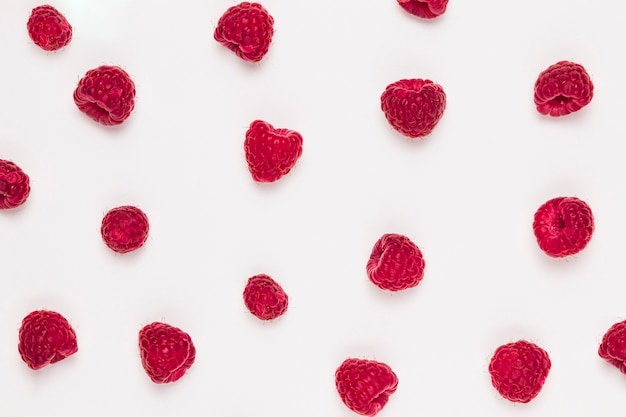 Ripe fragrant tasty raspberries Free Photo