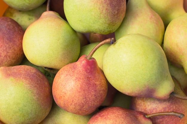 Ripe juicy pears close up Premium Photo
