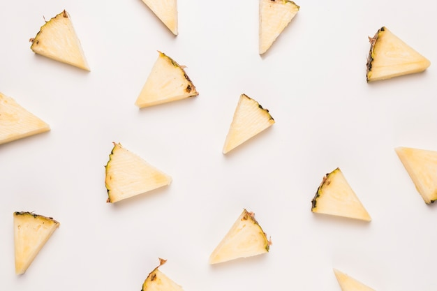 Ripe pineapple slices Free Photo