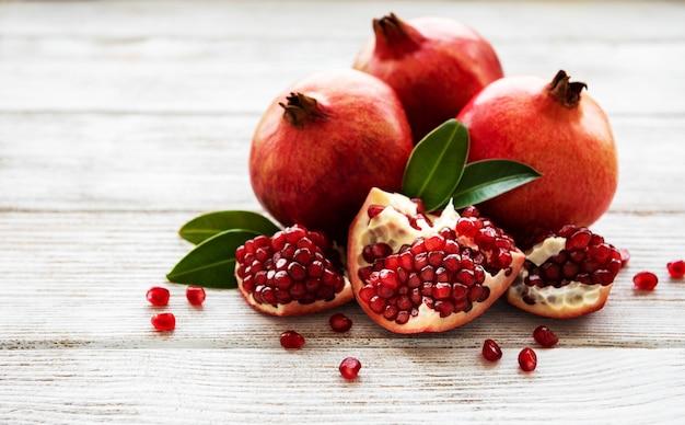 Ripe pomegranate fruits Premium Photo