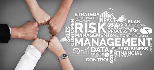 Risk management and assessment for business Premium Photo