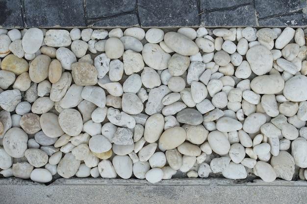 River rock decoration on house floor Premium Photo