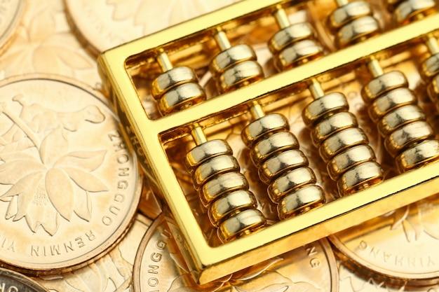ゴールデンアバカス、背景として中国rmbゴールドコイン 無料写真