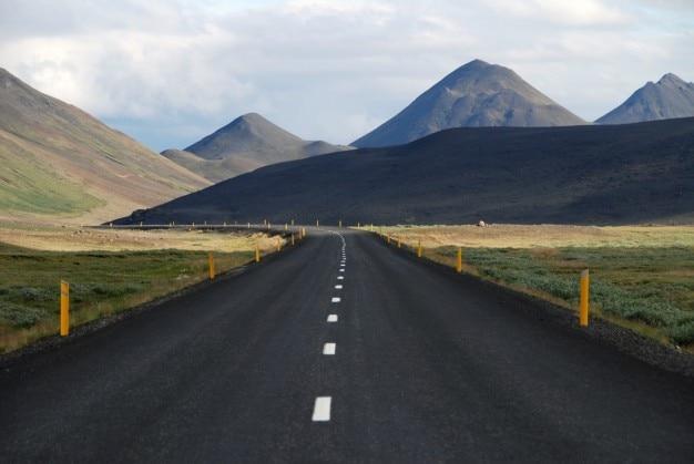 Road across beautiful landscape Free Photo