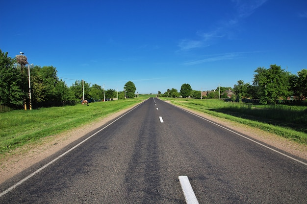 The road on belarus country Premium Photo